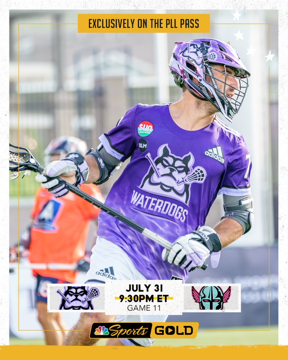 Then, at 9:30 p.m. EST, @stevedenap7 and @PLLWaterdogs square off against @bkavanagh25 and @PLLChrome on @NBCSportsGold  #RoarWithPride #HofstraFamily https://t.co/b4AzYqZ9Qr