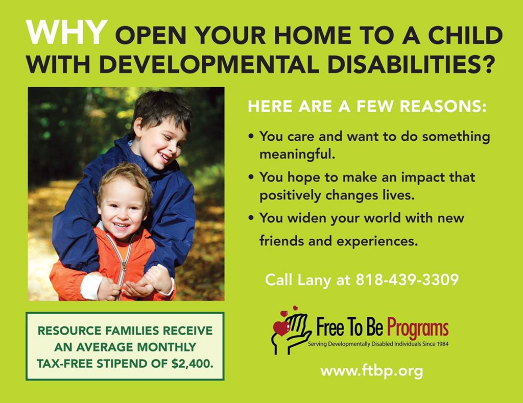 You can foster children or support adults with developmental disabilities. Though you do not need to be married or partnered to foster or adopt, if you are, the $2400 tax free monthly stipend can sometimes enable one partner to stay at/work from home. #Options. #Selfemployedlife. pic.twitter.com/JxB9MoqPlT