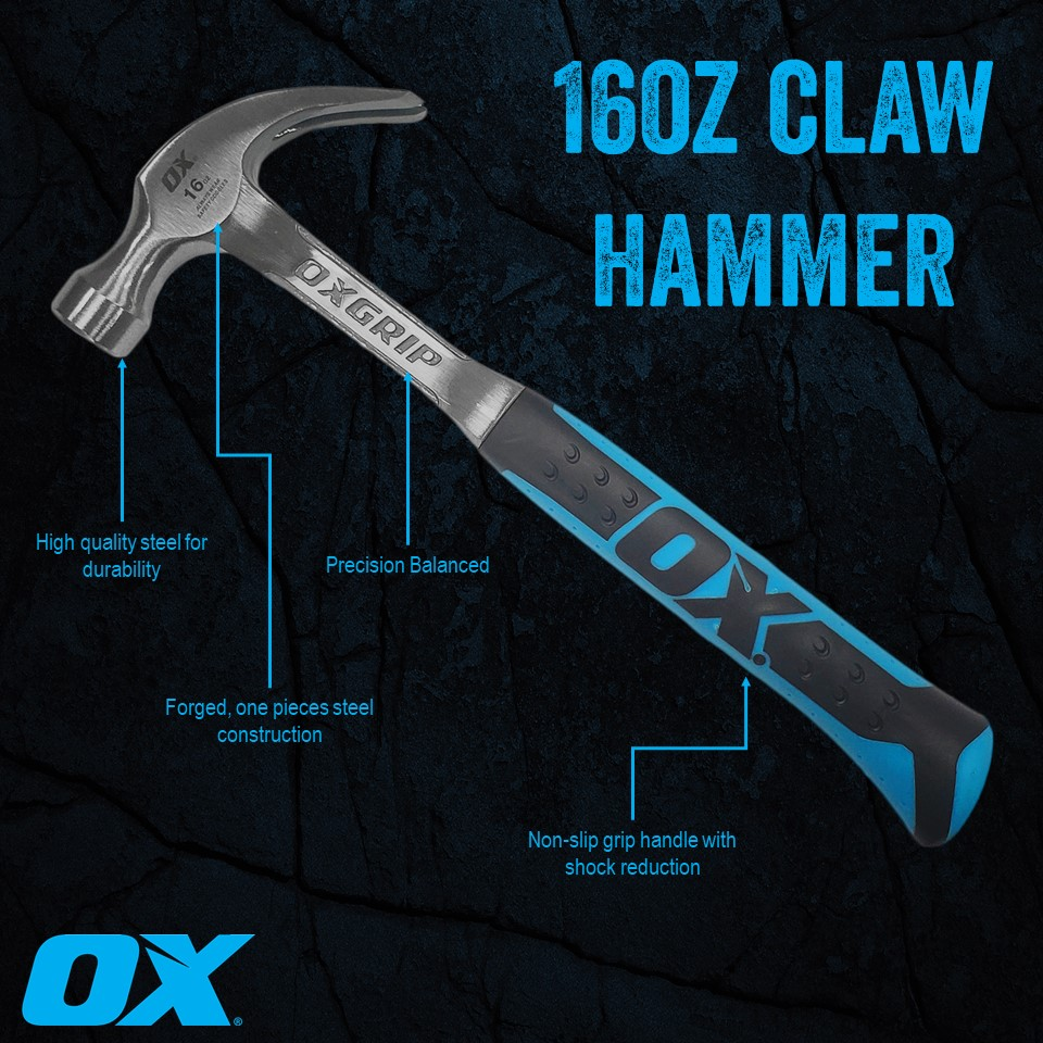 Introducing our new 16oz claw hammer!  Want to try it out? It can be purchased @southerncarlson   #oxtools #oxtoolsusa #tools #handtools #framing #framer #hammer #build #building #woodframing #builder #contractor #construction #innovation #tough #dynamic #differentpic.twitter.com/KSCnGv7A6j