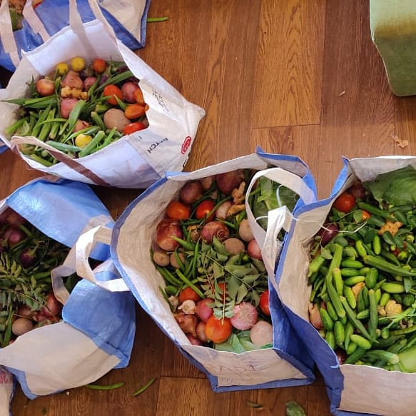 So Today - We purchased vegetables for 64 families - without a single use plastic. Reducing single use plastic in daily lives is to coexist with other species and less burden on our mother nature. 960 single use plastic bags - not used today - by a simple choice. Baby steps.