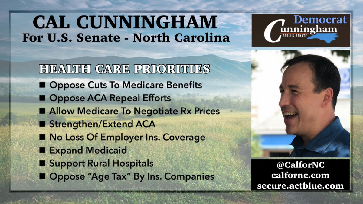 🚨Wonder why you haven't seen any ads touting Sen Tillis for all he has done in DC? 🚨voted ✂️Medicaid 🚨voted to dismantle ACA w/o a replacement 🚨blamed Hispanics for the spread of COVID 🚨votes trump over USA ❓maybe there's nothing to tout 🔆Vote 4 Cal RT & VOTE #Dems4USA