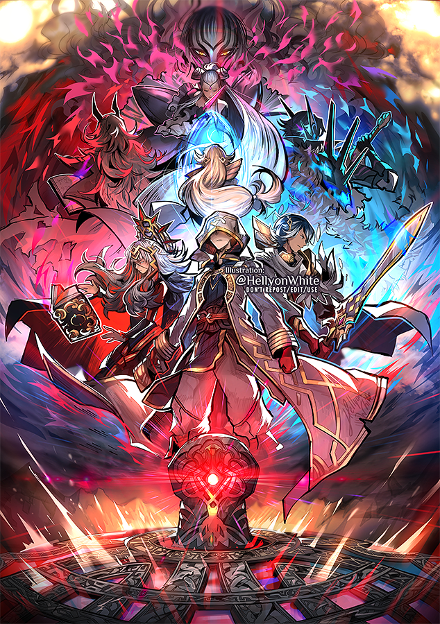 🔸B o o k I I I🔸 My illustration for the month of October in @fehplanner Fire Emblem agenda! Finally got to illustrate the events in FEH book 3. I really love Lif, Thrasir, Eir and Hel, but the Summoner deserves the spotlight!
