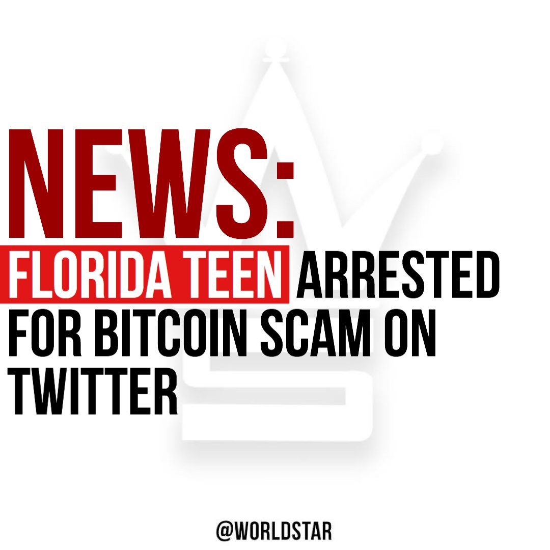 According to reports, a 17 year old male from #Tampa has been arrested for his alleged involvement in the #Twitter hack of high profile accounts to promote a #Bitcoin scam. To read the full story, please click the link. bit.ly/2EH4CcB