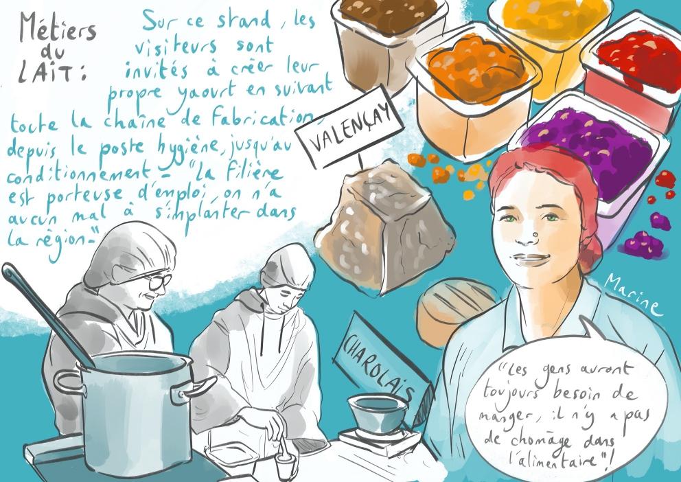 [UNE SEMAINE UN DESSIN] 🖍  Avec l'ambition de transmettre un savoir-faire unique au monde, la filière du #lait propose des #métiers variés aux compétences diverses. Venez les découvrir au Mondial des Métiers ! #MDM2020 En savoir plus 👉 https://t.co/HZEoFW8O3o Anne Bernardi 🙏 https://t.co/1EolrfWfhj