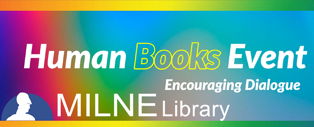A Human Book is someone with a unique perspective and a personal story to tell or a passion to share. #MilneLibrary is seeking participants for the Online Human Books Event during Fall 2020! Visit https://t.co/Xr2RbDJHGM for more info and https://t.co/6vgTpiyltt to participate. https://t.co/KTnwPhvQHI
