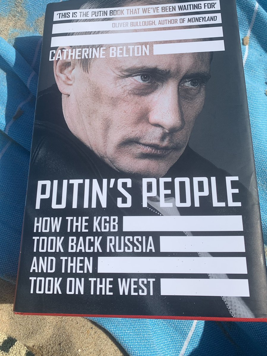 "Late to this, but ""Putin's People"" by @CatherineBelton is a phenomenal piece of work. A rare combination of forensic reporting in the service of a broad strategic narrative. Eye-opening and deeply troubling in equal measure. https://t.co/H76tnlj0ck"