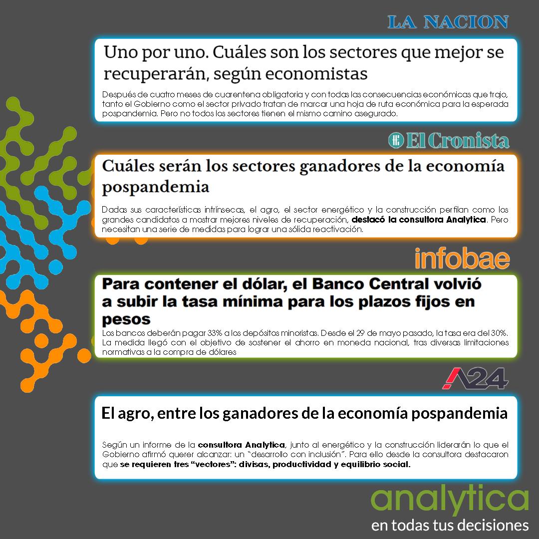 Esta semana el equipo de @analyticaconsultora  @rodrigoalvarezl @delgado_rr @santiagogambaro  fueron consultados por @LANACION @Cronistacom @infobae @A24COM    Lee todas las notas online en 👉 https://t.co/Zn7TRxo3gV https://t.co/2aqXpXFZk6