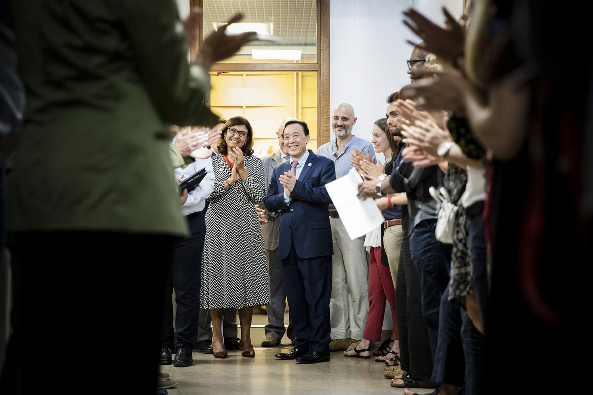 """One year ago today, @FAODG QU Dongyu took the helm of @FAO promising change. People at FAO saw many """"firsts"""" in the past year and sensed a new culture and a new FAO. Find out more 👉bit.ly/2Xhimkq"""
