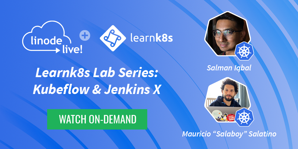 Shout out to our friends over at @learnk8s for partnering with us on our latest #LinodeLIVE labs on @jenkinsxio and @kubeflow 💚   Watch the on-demand recordings here: lin0.de/eP4mCO @salaboy @SoulmanIqbal