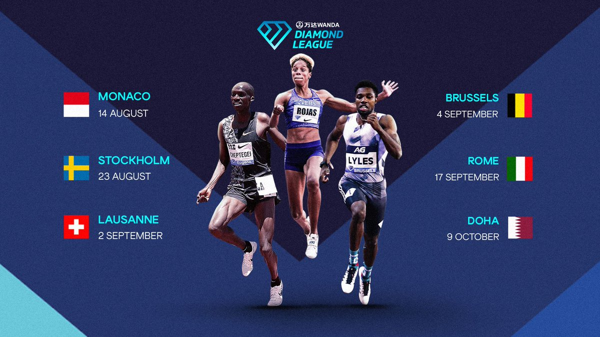 Two weeks until #DiamondLeague action commences💎 Mark your calendar with all the of the key dates 📆