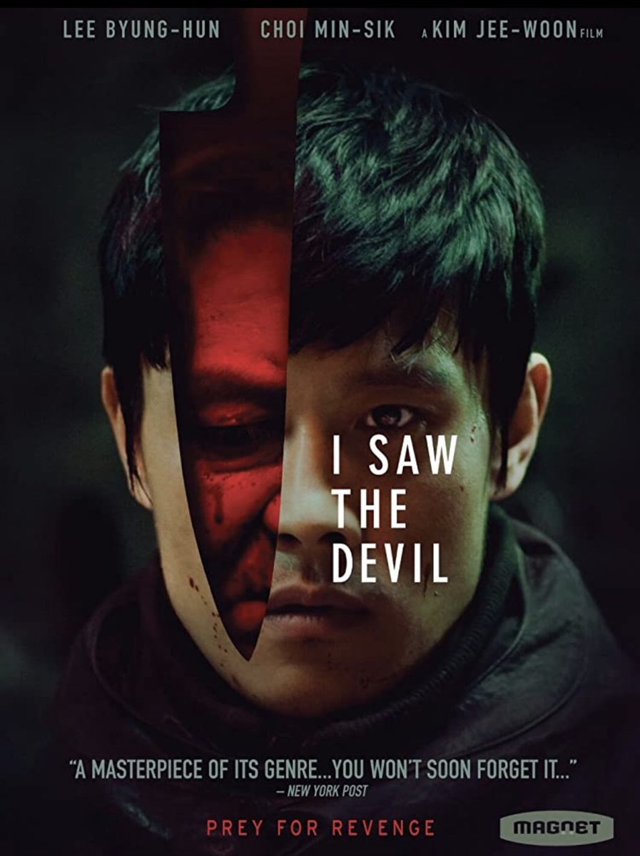 #NowWatching I saw the Devil #HorrorFam #MutantFam  What do you all think about this movie?  #KoreanCinema #SerialKillerShit #PrayForRevenge pic.twitter.com/3iJDsWH5go
