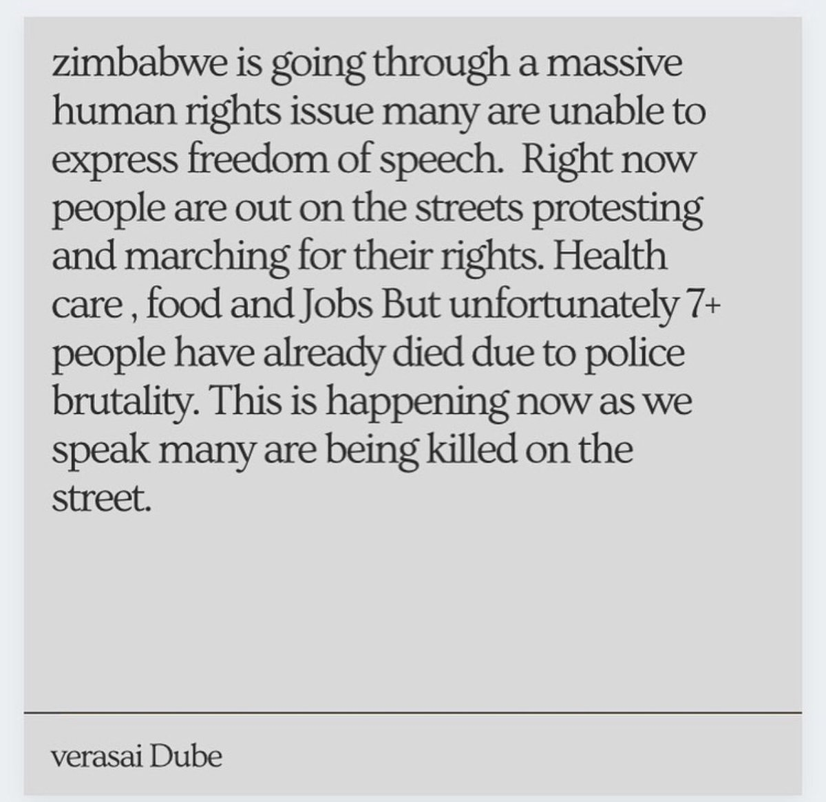 This is what's currently happening in Zim and more tbh. If you're not in Zim or not Zimbabwean please still help Zimbabweans by bringing awareness to this. https://t.co/ns7ZT6XZ5E