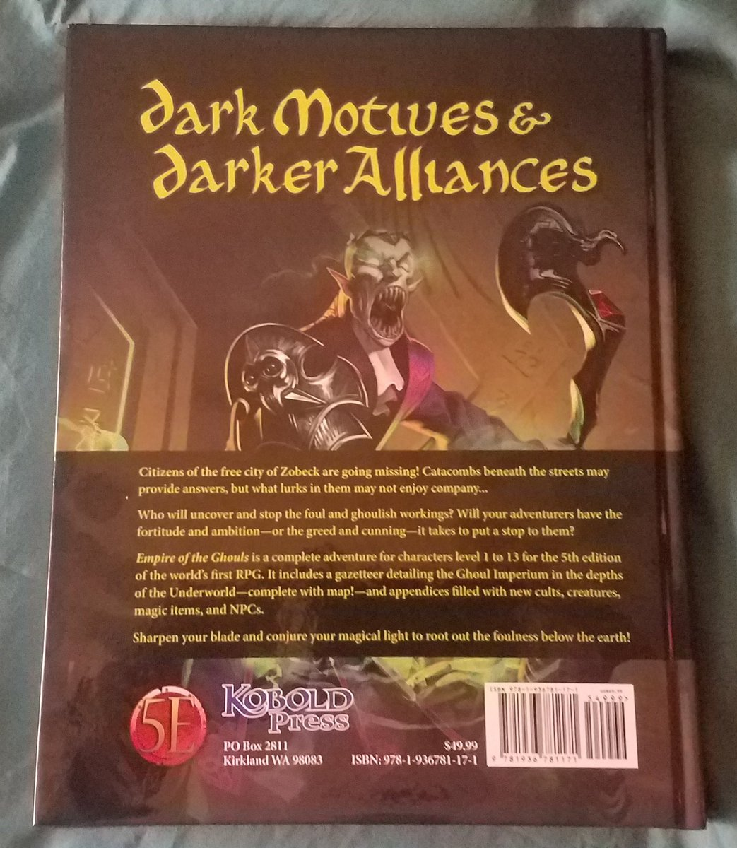 Dungeons /& Dragons 5e RPG PRESALE Empire of the Ghouls hardcover kobold press N