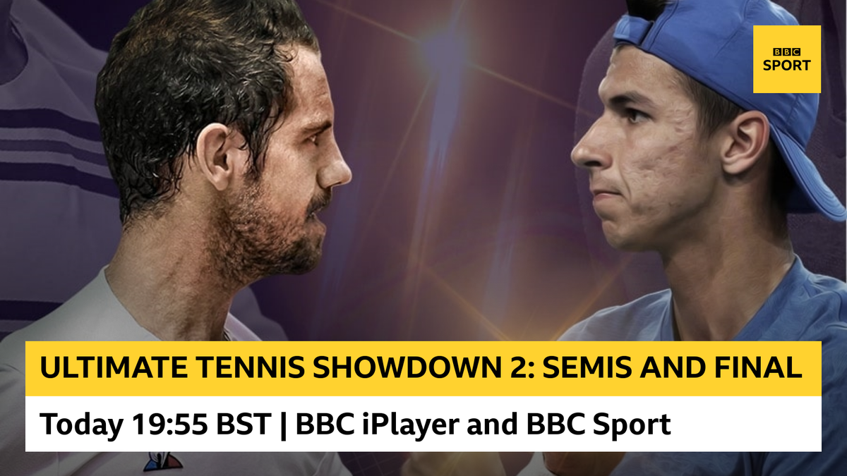 🎾 Coverage of the Ultimate Tennis Showdown 2 starts at 19:55 BST The tournament features some of the worlds best players in a fast-paced, intense format. Watch it: 📺 @BBCiPlayer 💻 BBC Sport online bbc.in/3gefahd #bbctennis