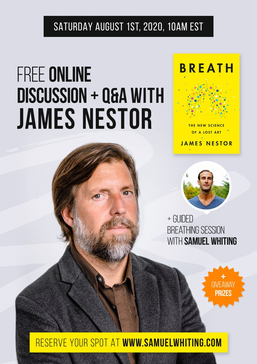 Q&A with breathwork session led by Samuel Whiting tmrw at (the ungodly hour of) 7amPT/10amET tomorrow. Will definitely not be showered/dressed anything like this press photo. It's free. https://t.co/ZSsBNMWaWV