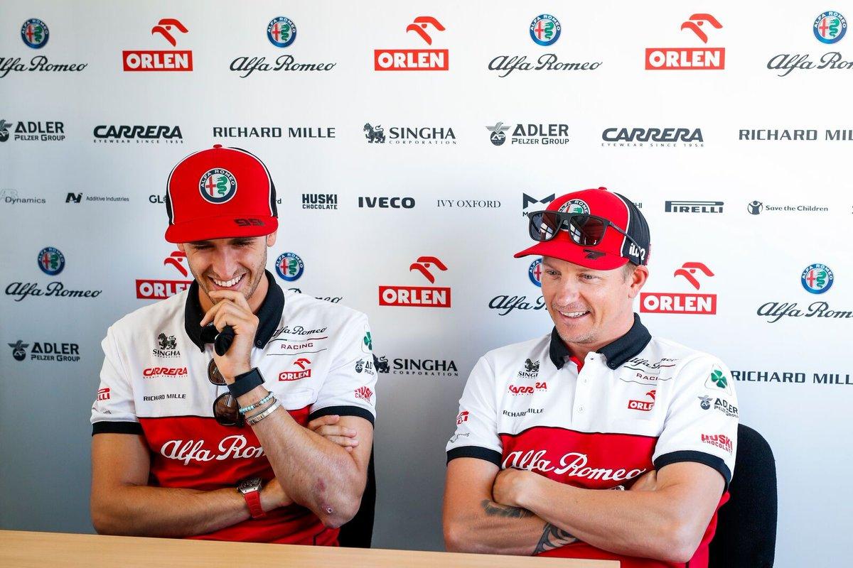 Prova a Non Ridere Challenge. Kimi Edition 🤣 . Try Not To Laugh Challenge. Kimi's Edition 🤣 #F1 #BritishGP #AlfaRomeoRacing #AG99🐝 https://t.co/4MMxMFklpz