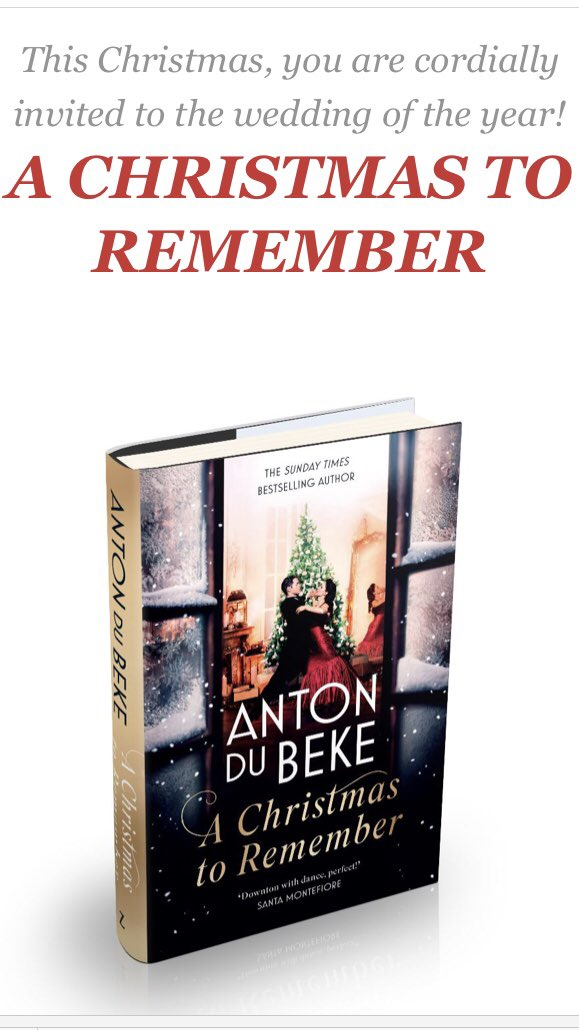 A Christmas to Remember  From the beloved Strictly star comes a gorgeous inter-war drama set in the glamorous ballrooms of an exclusive London Hotel Zaffre, 29th October 2020, Hardback, eBook and audio, £18.99 Return to the Buckingham Hotel in Anton Du Beke's sparkling new novel https://t.co/7gibXEqYin