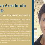 Image for the Tweet beginning: Dr. Elva Arredondo of @SDSU