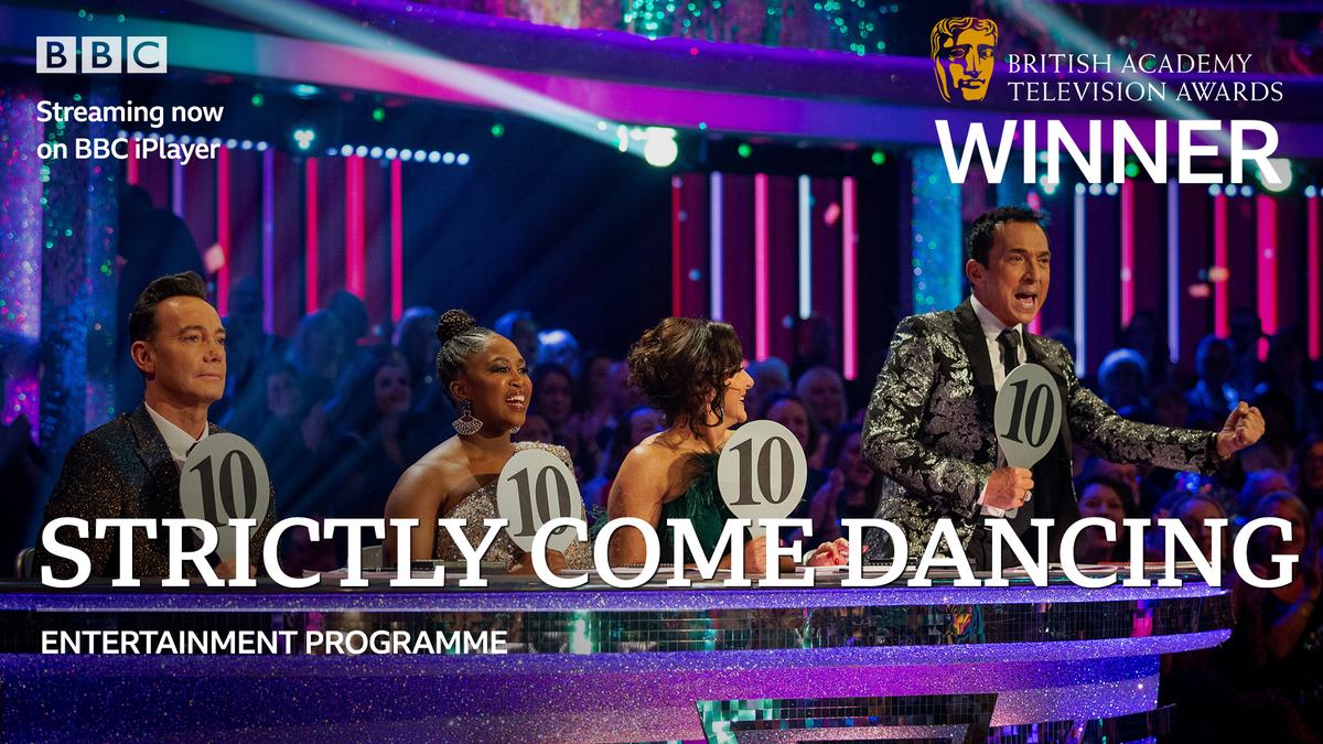 Congratulations #Strictly on the #BAFTATV Entertainment Programme award! Keeeeeep dancing!