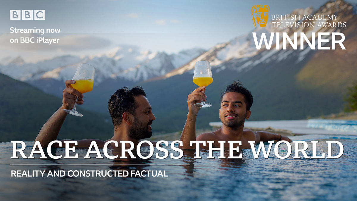 🌍 Congratulations #RaceAcrossTheWorld on the #BAFTATV Reality and Constructed Factual award!