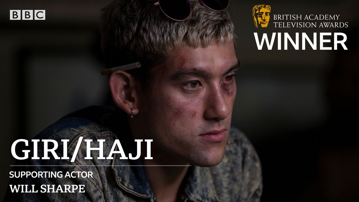 Congratulations to #WillSharpe on the #BAFTATV Supporting Actor award for #GiriHaji!