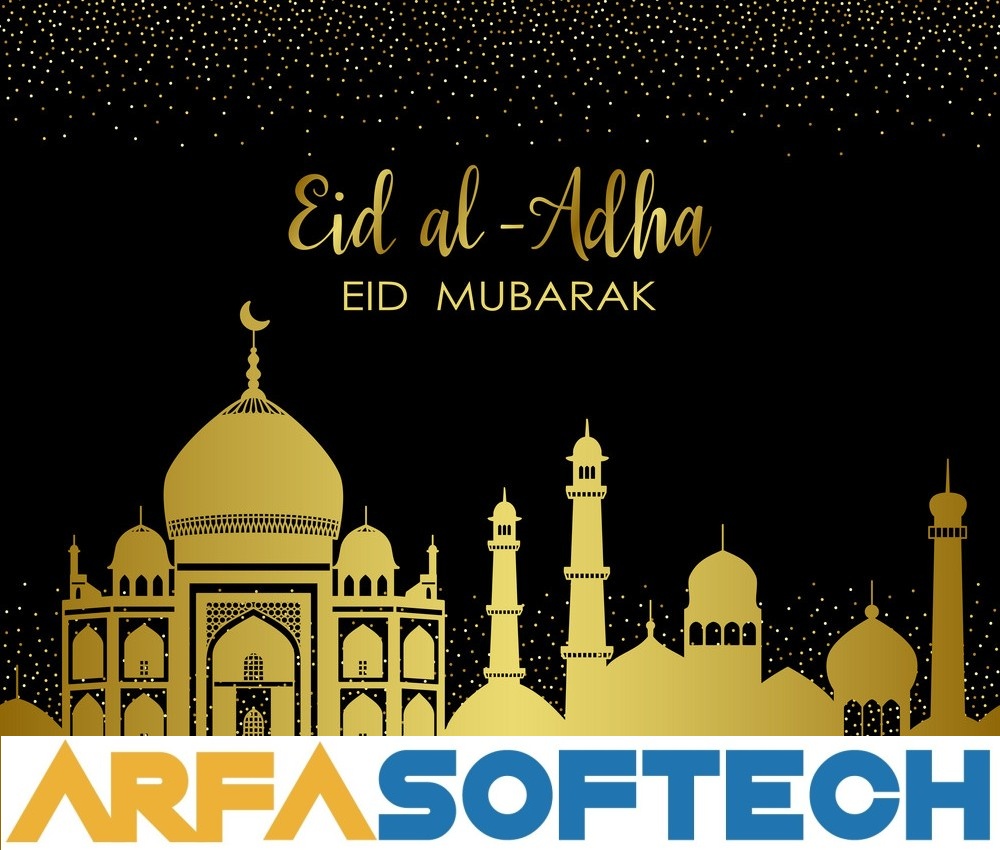 Eid ul Adha Mubarak to all Muslims. Stay Home Stay Safe. #eidmubarak #eiduladha #eid #stayhomestaysafe #eidgreetings #eidmabrook #eidwishes #arfasoftech https://t.co/BuIOTztkGi