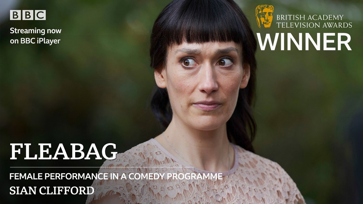 🦊 Congratulations to @SiansUniverse on the #BAFTATV Female Performance in a Comedy Programme award for #Fleabag!