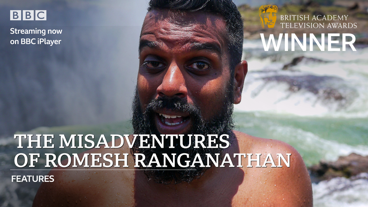Congratulations to @RomeshRanga and #TheMisadventuresOfRomeshRanganathan on the #BAFTATV Features award!