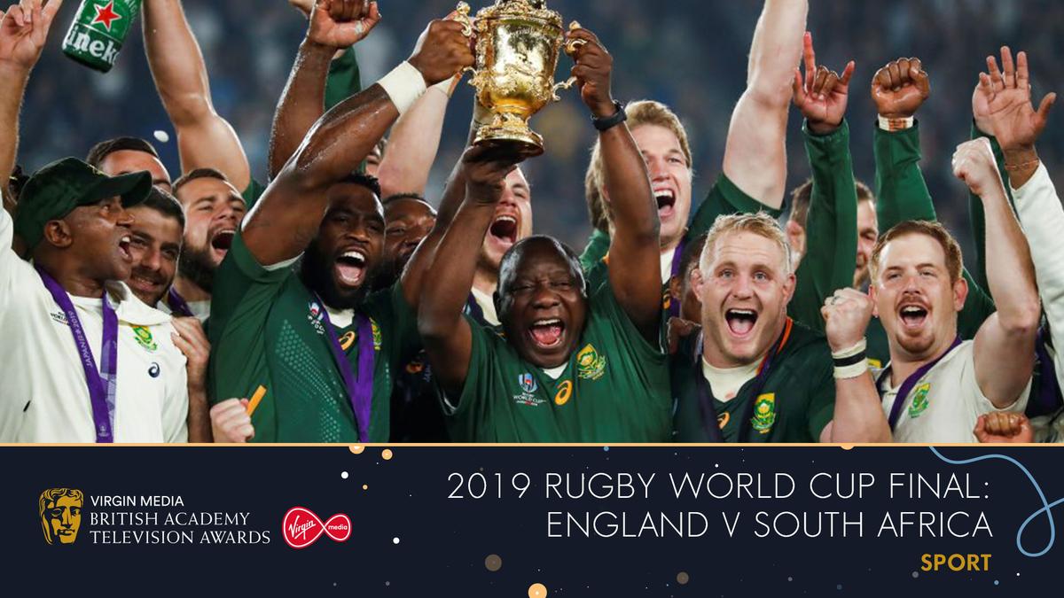 The 2019 Rugby World Cup Final: England v South Africa wins the BAFTA for Sport 👏🎾 #VirginMediaBAFTAs #BAFTAs