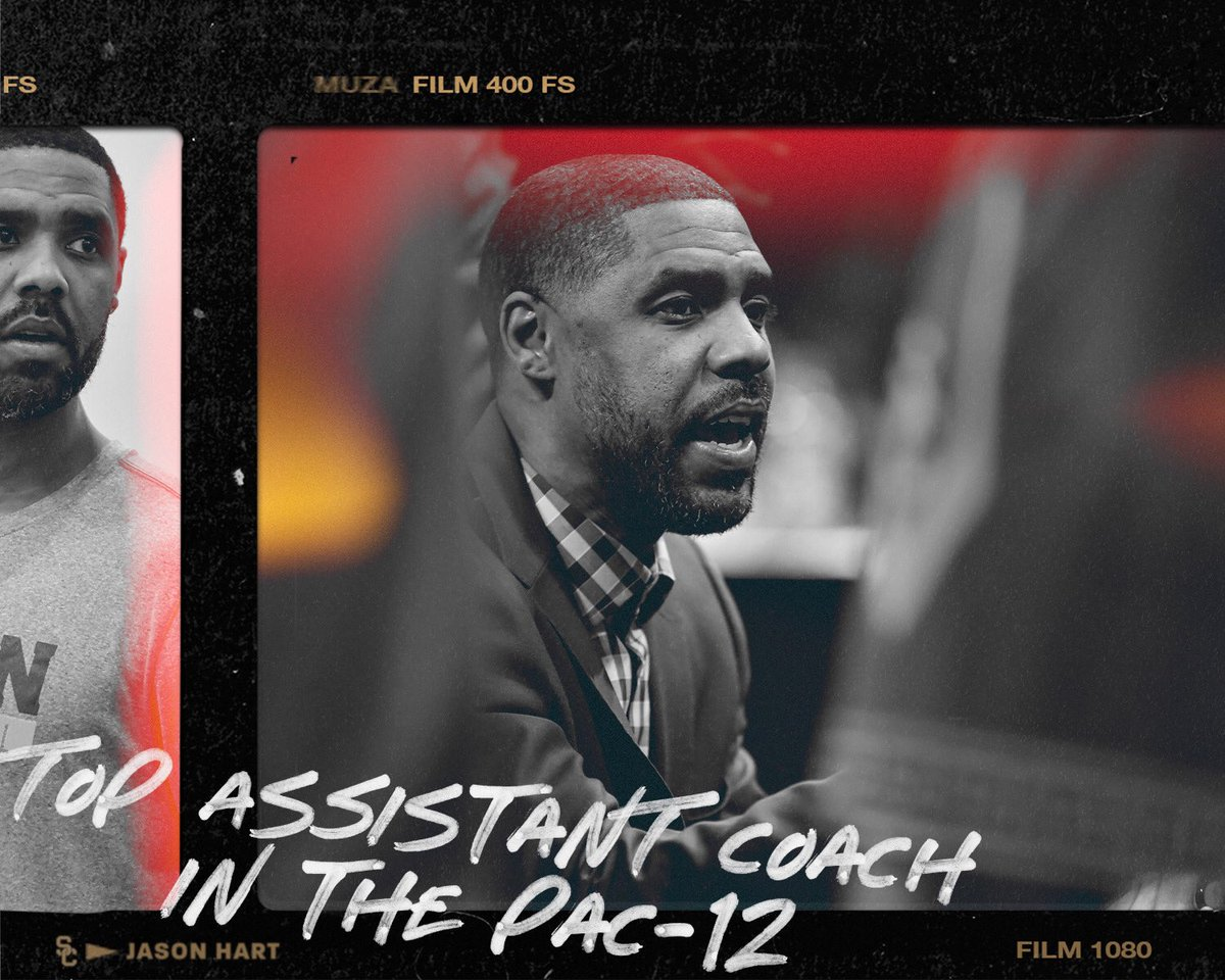 Congratulations to @JHart_1825 on being named the top assistant coach in the conference by @Stadium and his fellow Pac-12 assistants! https://t.co/Voe8qGUHYn