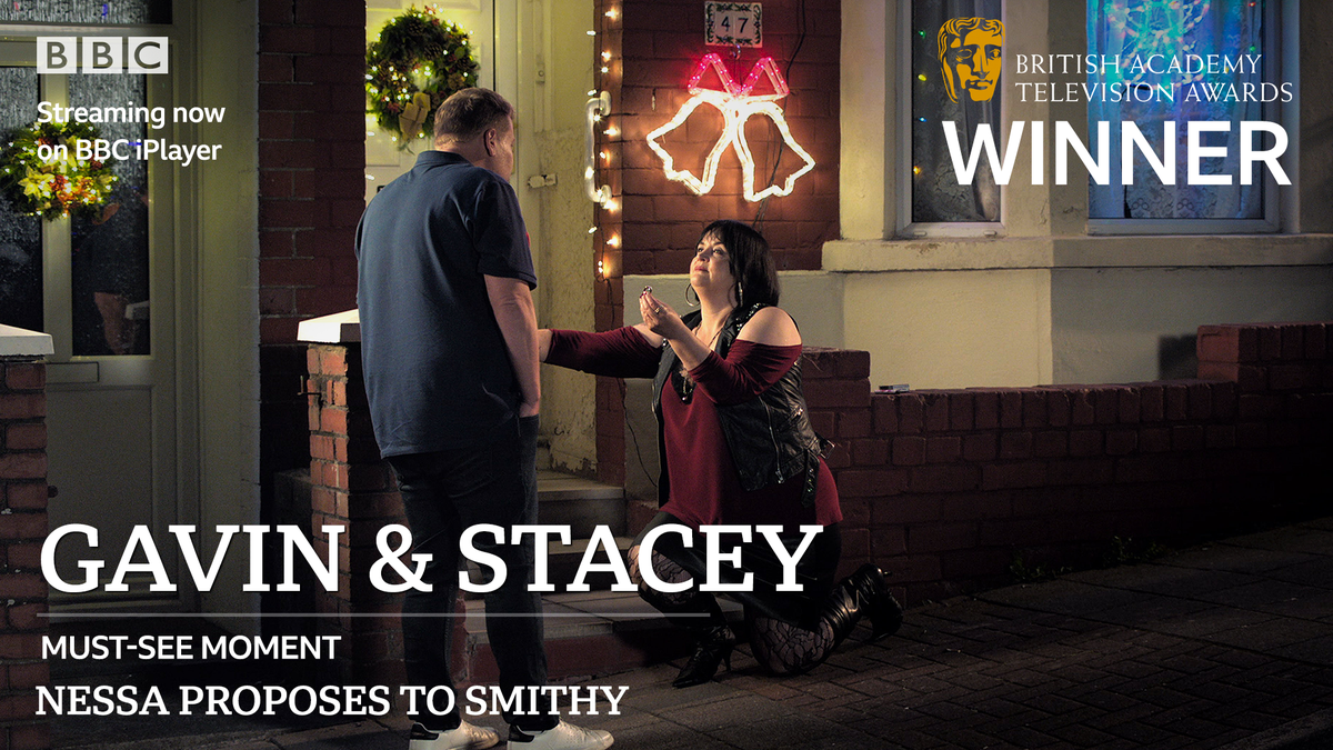 We loves it! #GavinAndStacey is the #BAFTATV Must-see Moment of the Year