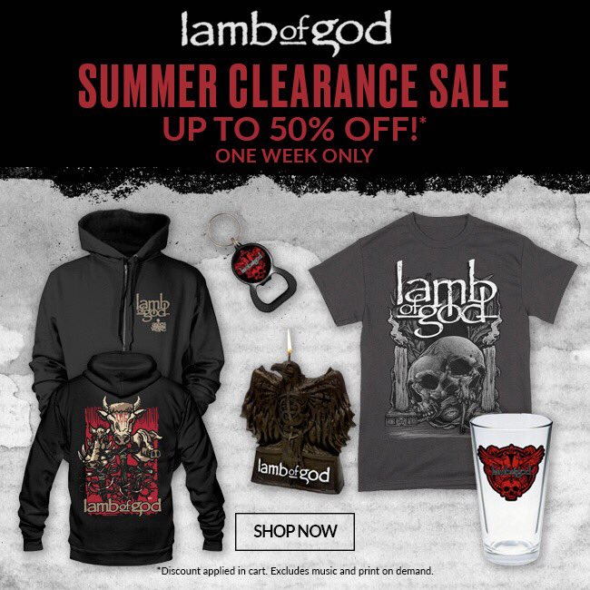 Our Summer Clearance Sale is here. For one week only, receive up to 50% off on select merch items in our webstore. Shop here: https://t.co/jXzgshrj3i https://t.co/3YJpYBf3VC