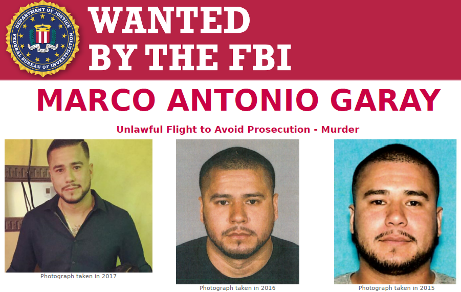 Help @FBILosAngeles find Marco Antonio Garay, who allegedly shot a man at a party in Bellflower, California, in January 2019. Submit tips to tips.fbi.gov. #FugitiveFriday ow.ly/8aiP50ANKHW