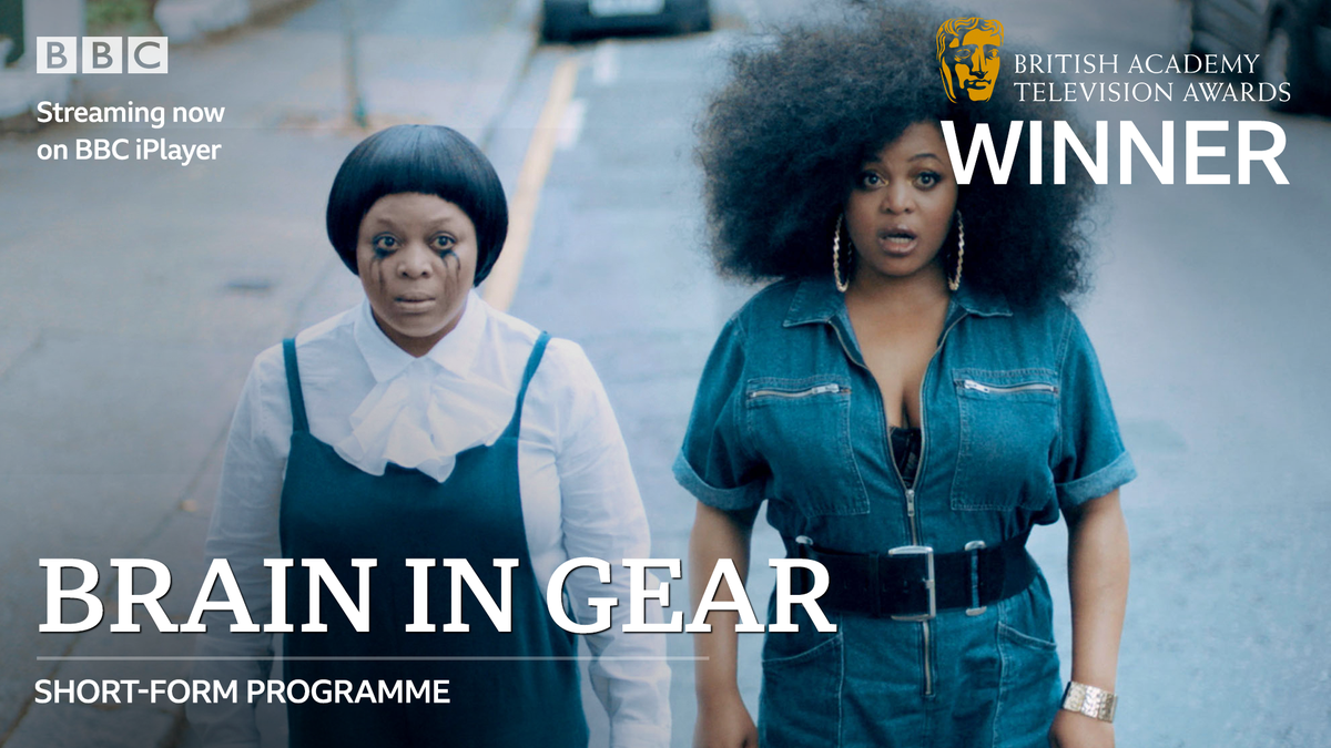 Congratulations to @gbemi_ikumelo on the #BAFTATV Short Form award for #BrainInGear! Look out for a full series on @BBCTwo soon: bbc.in/3jXr3u7