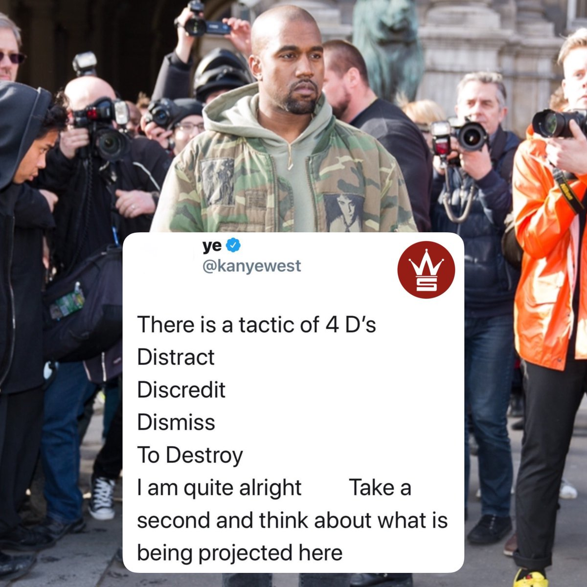 Kanye West tweeted that hes Quite Alright earlier today...