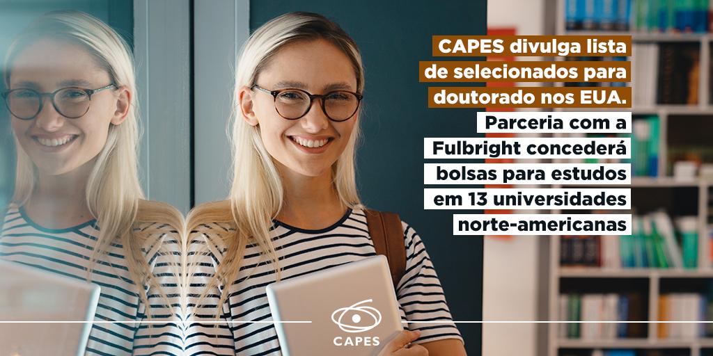 """CAPES on Twitter: """"Dezesseis estudantes brasileiros receberão ..."""