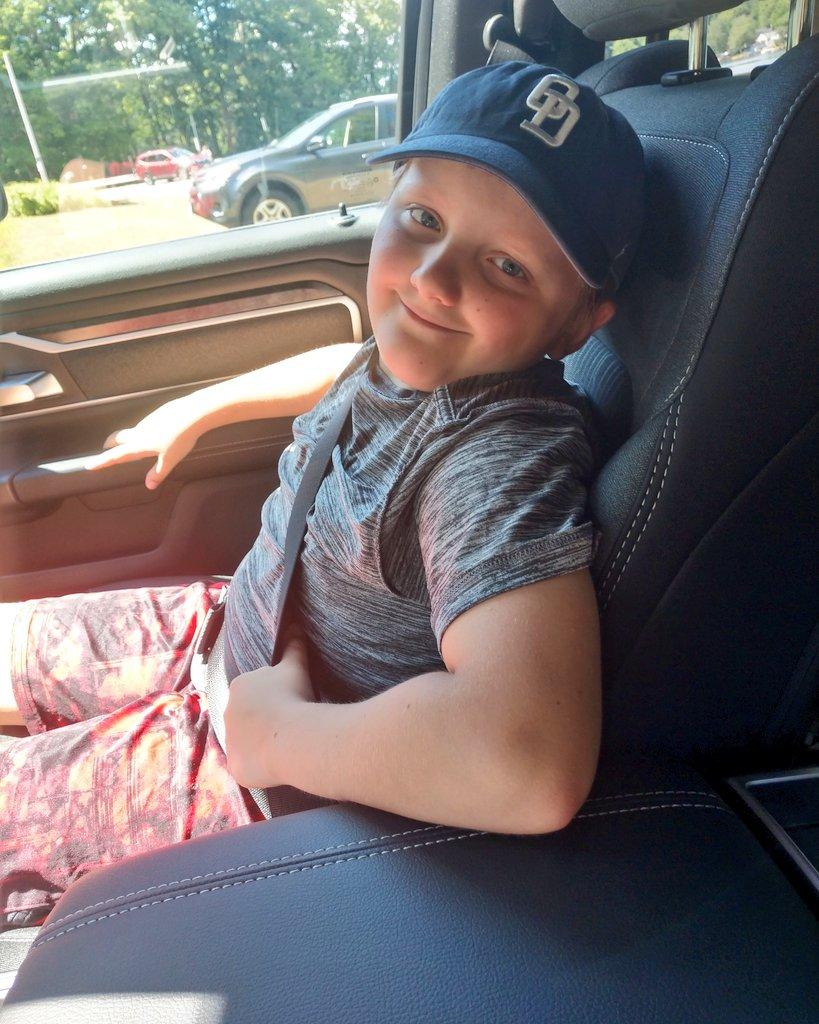 """I think I might be rubbing off on him. I caught him singing """"Beer Can in a Truck Bed"""" randomly in the house today and he's been steeling my favorite @OldDominion baseball hat and wearing it. #OD #LandonWilhelm age 9 💙 https://t.co/V1B8bGnrGj"""