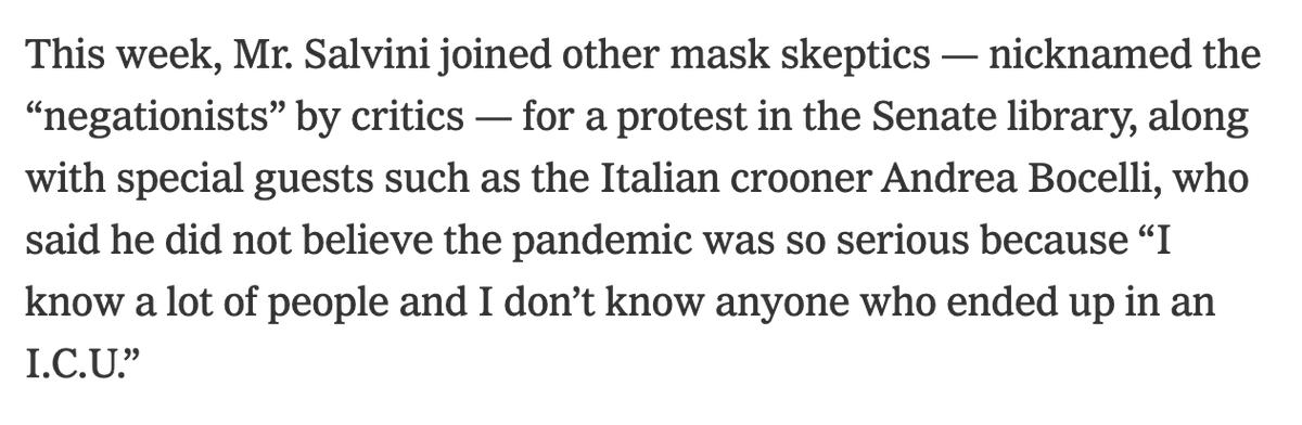 The anti-mask movement in Italy includes Andrea Bocelli https://t.co/sb9e51C94n https://t.co/TeckFE3ndj