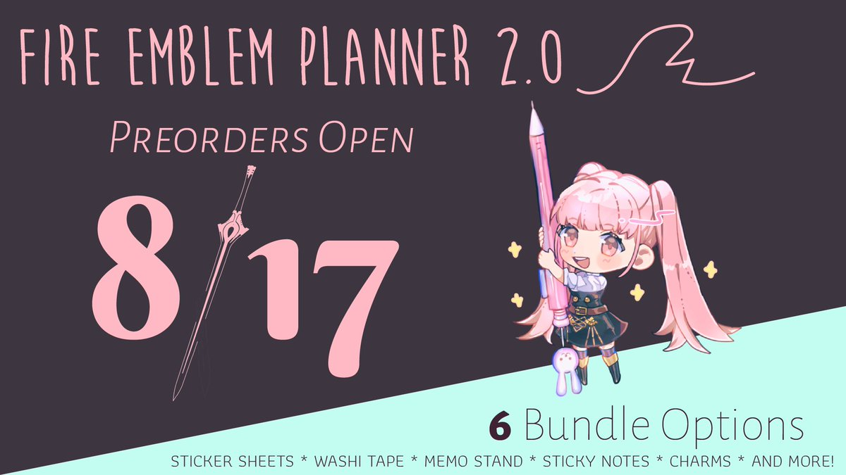 A celebration of fire emblem through the years, packaged into one magnificent (and undated!) planner. Preorders coming soon 💖