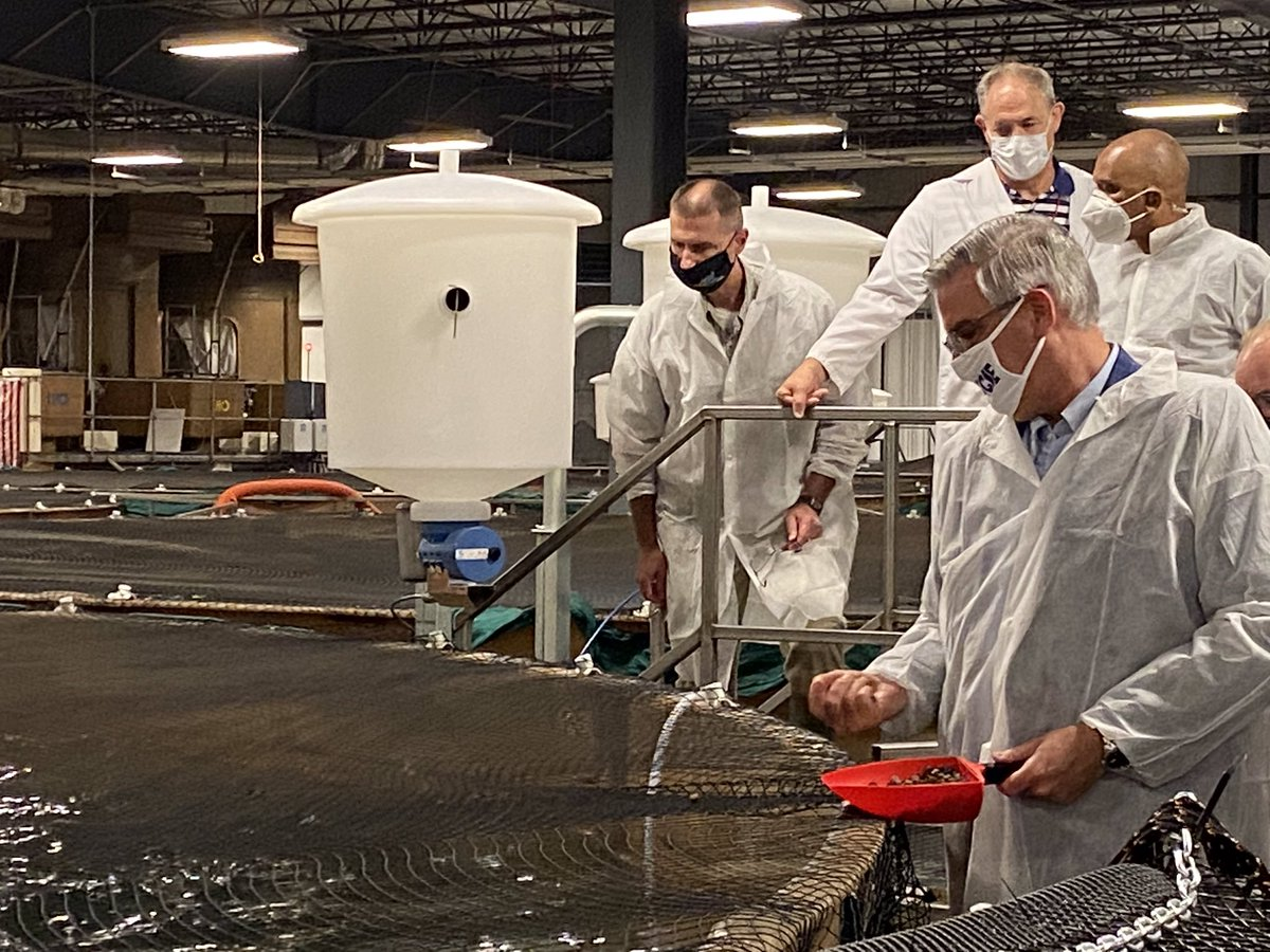 I enjoyed the opportunity to tour @AquaBountyFarms yesterday and see their sustainable aquaculture program up close.