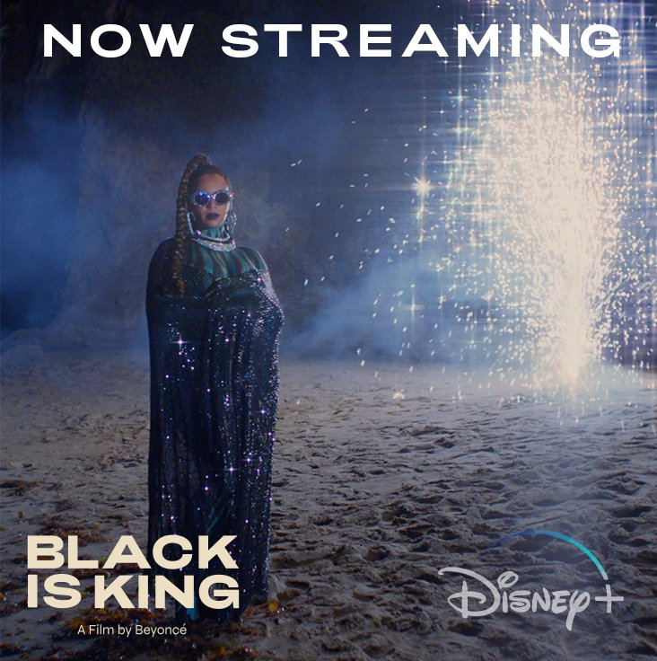 It is time. #BlackIsKing, a new visual album from Beyoncé, is now streaming on #DisneyPlus.