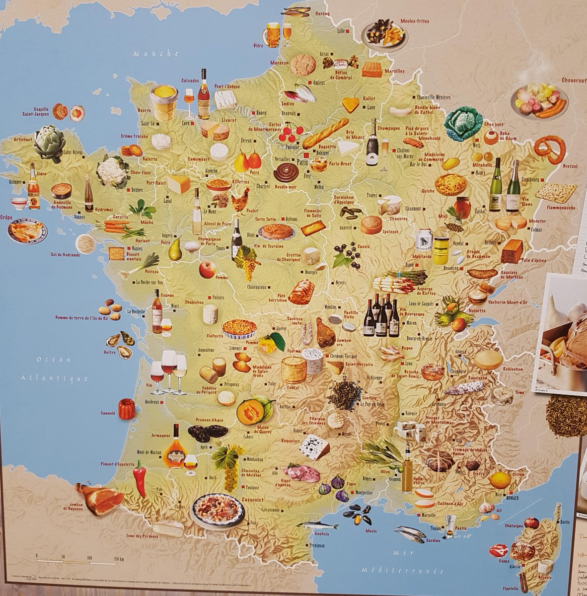 A food map of France