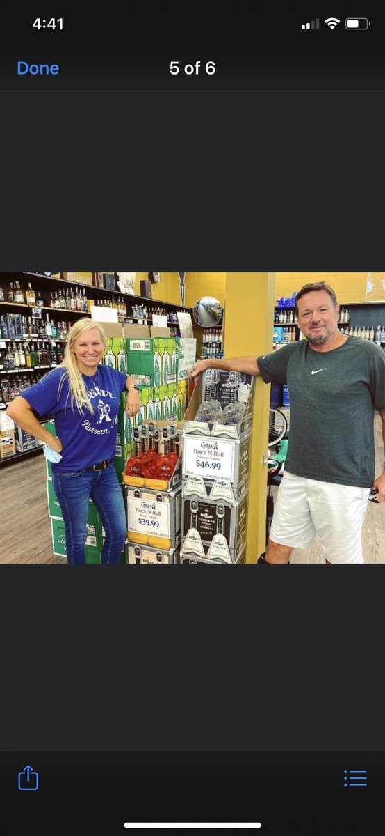 Rolling out more RocknRoll tequila today, here with Jenn at Cellars in Norman. Come get it! https://t.co/ILd2TArLAm