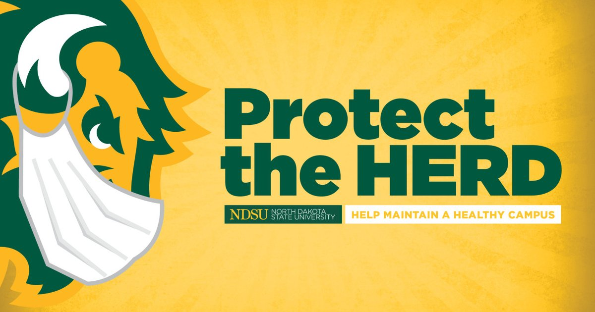 Students, faculty, staff and visitors must on a general basis when around others, wear face coverings over their mouth and nose, both indoors and outdoors, while on the NDSU campus. We are instituting this new guidance to better protect our campus community.  #ProtectTheHerd https://t.co/lmQT4l8rfE