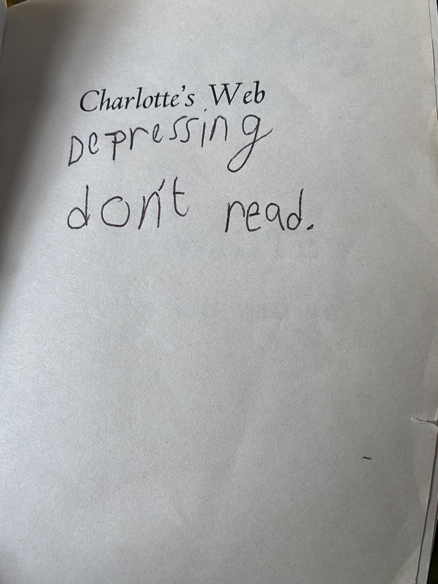 My 9yr old's first book review, I guess