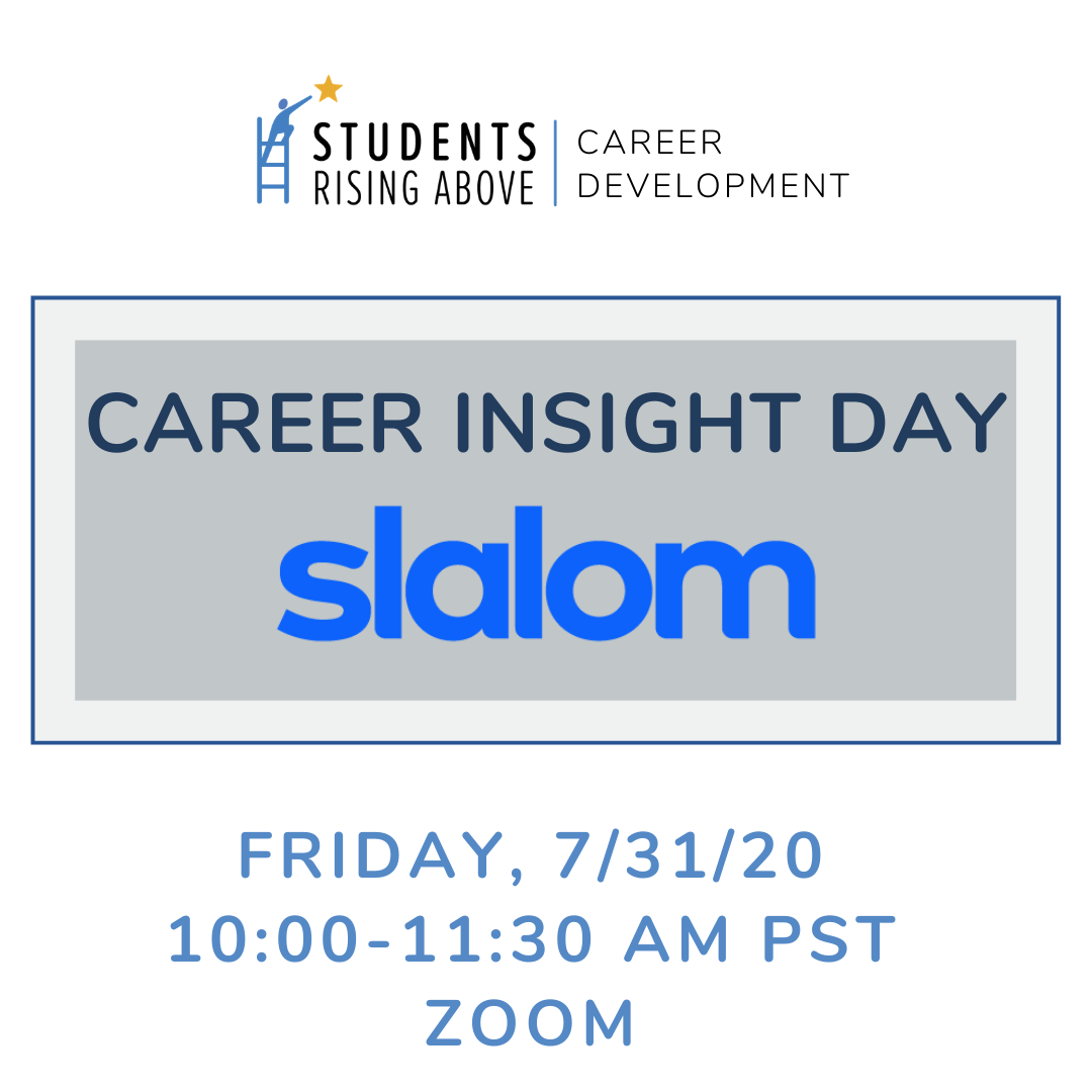 Thank you to @Slalom for participating in today's SRA virtual Career Insight Day for our SRA Students! They gave our students insight on modern consulting focused on strategy, technology, and business transformation and provided a complimentary career assessment test! https://t.co/nRIb4eaKW4