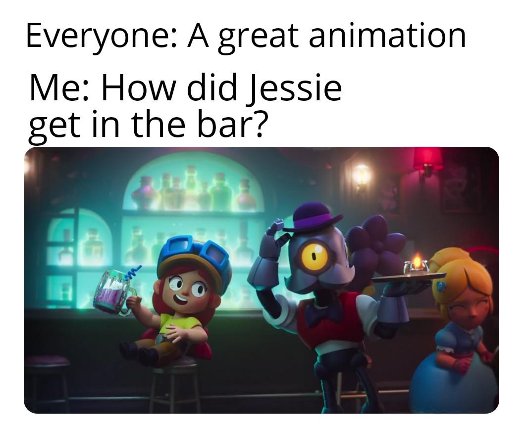 Okay, who gave Jessie a fake ID? #BrawlStarsMeme #BrawlStars Meme source: https://www.reddit.com/r/Brawlstars/comments/i13rif/how/…pic.twitter.com/kfZJql4uFR