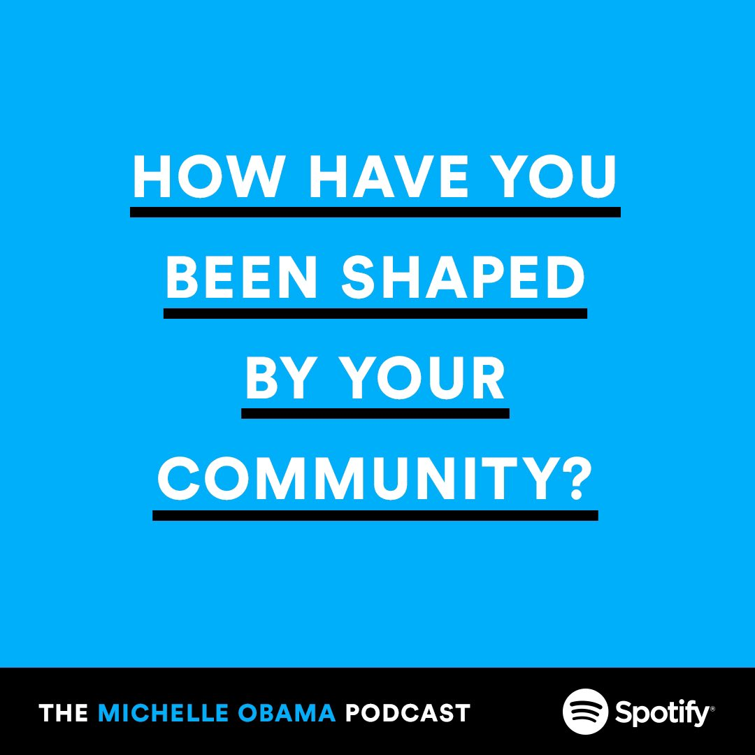 It's been great reading the responses to the first episode of The #MichelleObamaPodcast! Let's keep the conversation going. Id love to hear about the relationships that have shaped you.