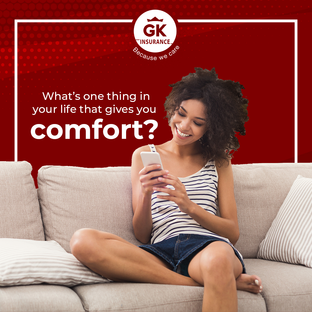 What are 2 things in life that gives you comfort? Knowing your home is your safe zone? The flexibility of owning your vehicle?  Take comfort in knowing that with GKI, both are protected. pic.twitter.com/VXPj4SHyTs