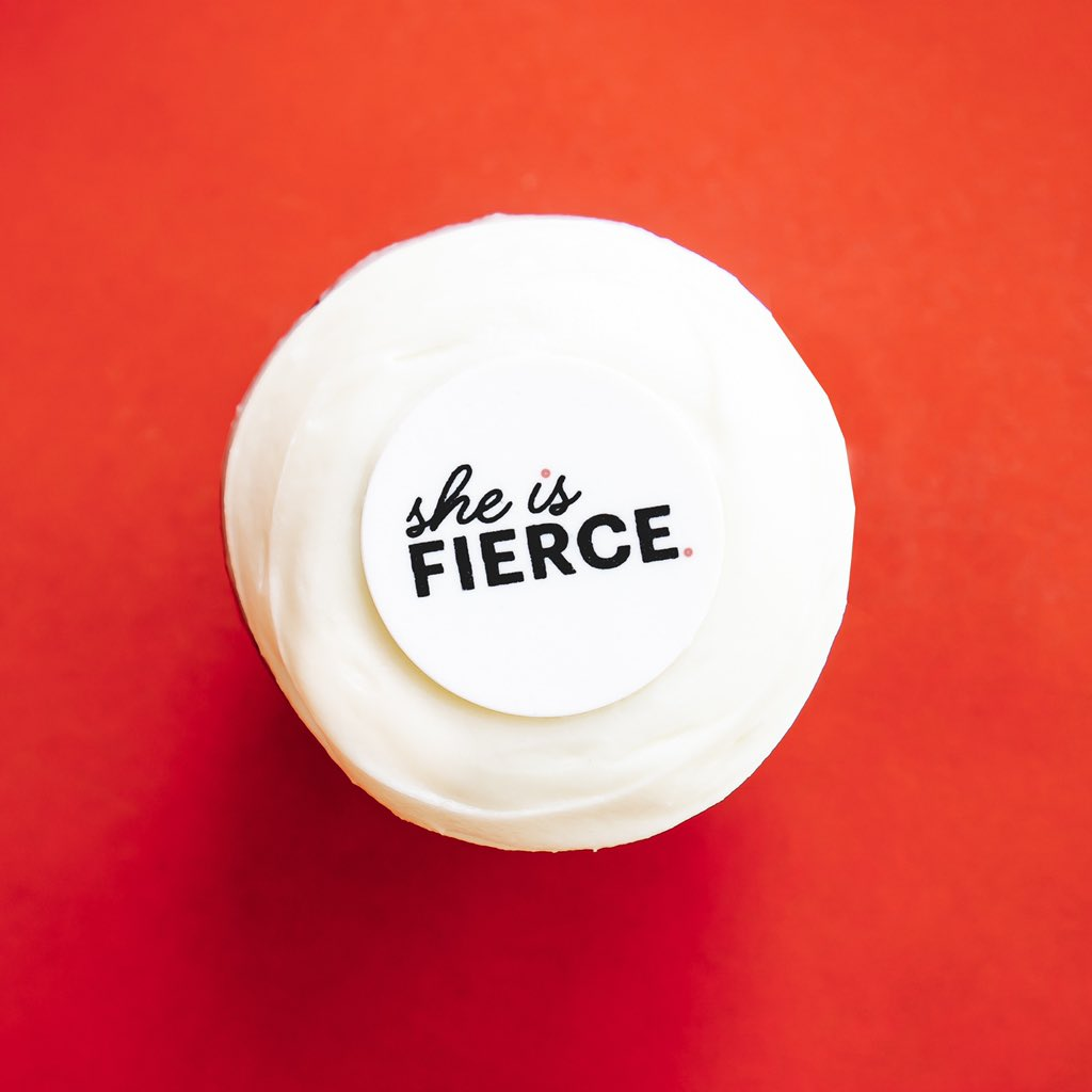 Tomorrow is #nationalgirlfriendsday and we believe in supporting & empowering her! Who will you celebrate with this She is FIERCE Red Velvet cupcake? https://t.co/M9XbvaLF10